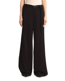 Roland Mouret Aperol Honeycomb Viscose Trousers
