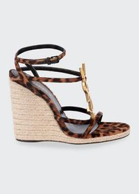 Saint Laurent Leopard-Print Espadrille Sandals