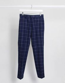 Harry Brown slim fit mini check suit pants