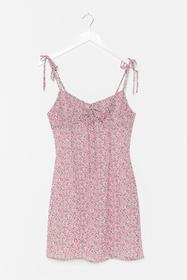 Nasty Gal Lilac A Strappy Medium Floral Mini Dress
