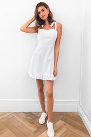 Nasty Gal White Can't Tie My Love Ruffle Mini Dres
