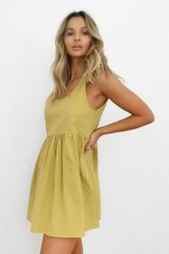 Nasty Gal Lime Smock 'Em Down Mini Dress