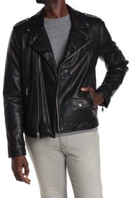 DKNY Faux Leather Moto Jacket