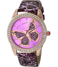 Betsey Johnson Cheetah Butterfly Dial Watch