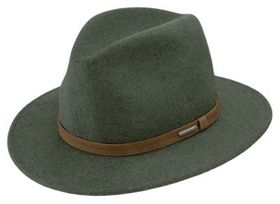 Stetson Explorer Crushable Fedora Hat for Men