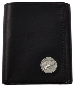 Weber's Dynasty Leather Trifold Wallet with Bass C