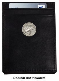 Weber's Dynasty Leather Front Pocket Wallet with B