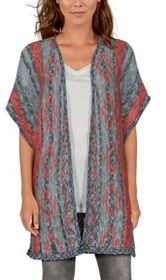 Natural Reflections Aztec Short-Sleeve Cardigan fo