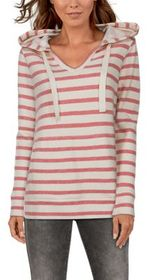 Natural Reflections Striped Long-Sleeve Hoodie for