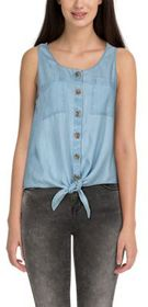 Natural Reflections Tencel Tie-Front Sleeveless Sh