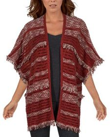 Natural Reflections Fringe Poncho Cardigan for Lad