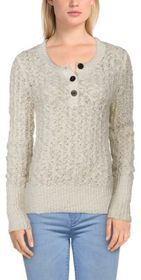 Bob Timberlake Long-Sleeve Henley Sweater for Ladi