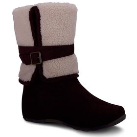Womens Wanted Squall Mid Calf Faux Sherpa Lined Bo