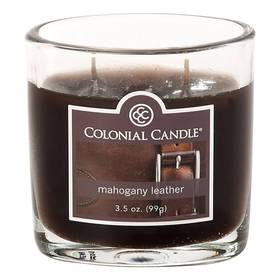 Colonial Candle Mahogany Leather 4oz. Jar Candle