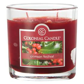 Colonial Candle Crimson Festival 4oz. Jar Candle
