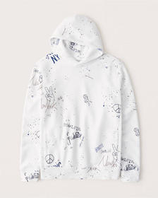 The A&F Perfect Popover Hoodie, WHITE