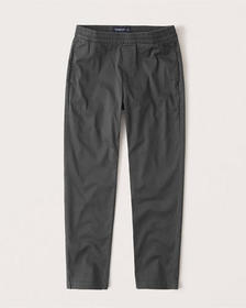 Pull-On Skinny Taper Pants, DARK GREY