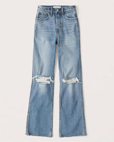 90s Relaxed Jeans, RIPPED LIGHT WASH