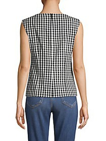 Elie Tahari Gingham Sleeveless Top