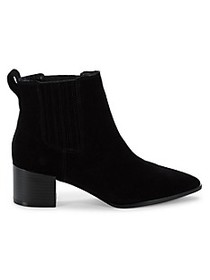 Saks Fifth Avenue Evie Suede Point-Toe Booties