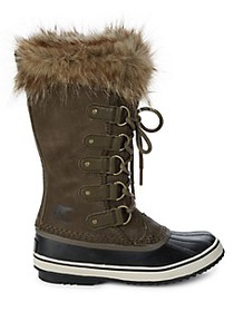 Sorel Joan Of Arctic Faux Fur-Lined Suede Boots