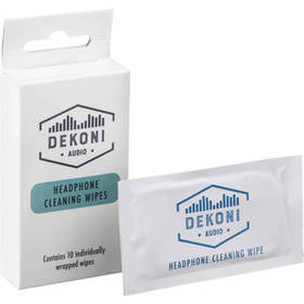 Dekoni Audio Headphone Cleaning Wipes (10-Pack)