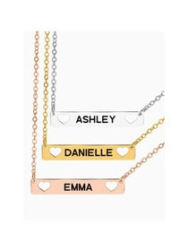 Next Day Shipping Personalized Bar Name Necklace w