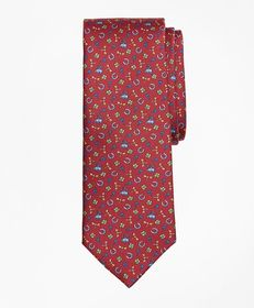 Brooks Brothers Lucky Motif Print Tie