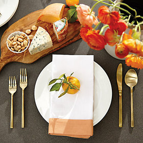 Bunny Williams Banded Dinner Napkins - Set of 4, P