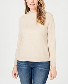 Luxsoft Zip-Back Mock-Neck Sweater, Created for Ma
