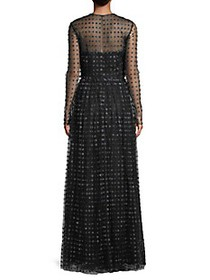 Jason Wu Collection Embroidered Dot Organza Gown