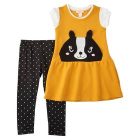 Girls(4-6x) Colette Lilly 2pc. Animal Jumper and L