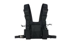 Radio Chest Harness Front Pack Hands Free Pouch Wa