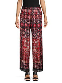 Anna Sui Whoos That Pussycat Pleated Pants