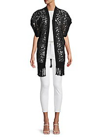 Valentino Lace Open-Front Poncho