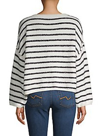 Free People Striped Cotton-Blend Sweater