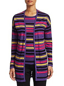 Saks Fifth Avenue COLLECTION Silk & Linen Striped