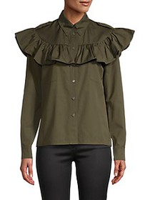 Miu Miu Ruffled Cotton Shirt