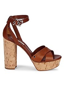 Casadei Leather Heeled Ankle-Strap Sandals