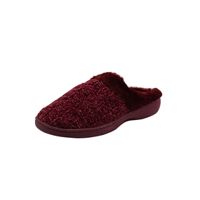 Womens Gold Toe® Chenille Knit Clog Slippers
