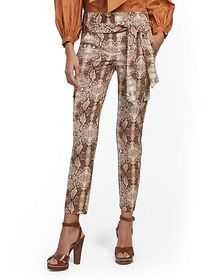Madie Cargo Pant - Snake Print - 7th Avenue - New