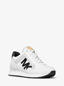 Michael Kors Maddy Two-Tone Logo Trainer