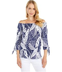Tommy Bahama Sealight Just Leafy Off-the-Shoulder