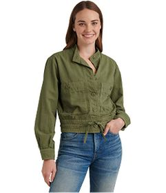 Lucky Brand Long Sleeve Button-Up Two-Pocket Femme