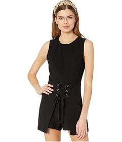 BCBGeneration Sleeveless Front Lace-Up Romper - GE