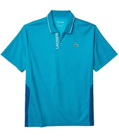 Lacoste Short Sleeve Semi Fance Zipper Placket Pol