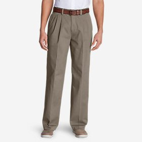 Men's Casual Performance Pleated Chinos - Relaxed