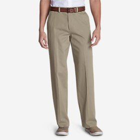 Men's Casual Performance Flat-Front Chinos - Relax
