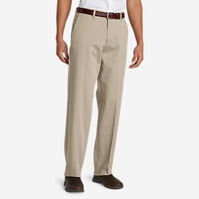 Men's Flat-Front Relaxed Khakis