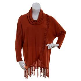 Plus Size NY Collection Cowl Neck Wrap Sweater